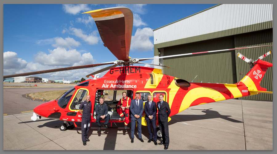Essex & Herts Air Ambulance - PR Photograph at London Luton Airport
