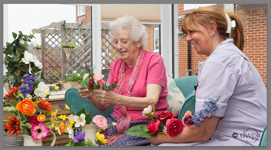 Find out more - Flower power comes to Care Home
